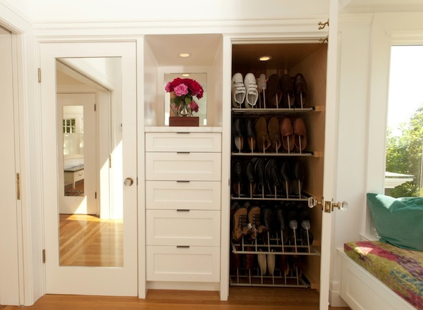 More shoe storage solutions for your home for Storage solutions for small closets