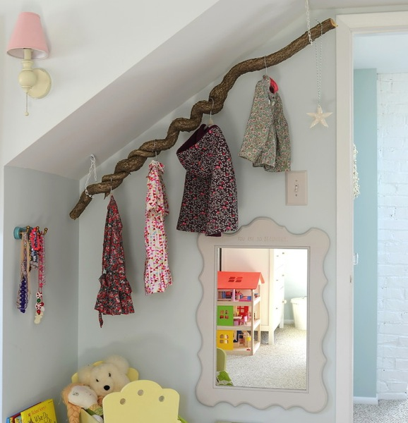 Creative coat rack designs to help save space for Kids room hooks