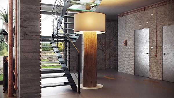 concrete walls for a duplex loft-like residence