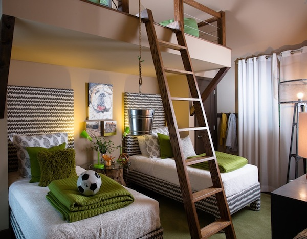 outfitting your kids room with a stylish loft bed