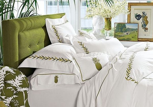 Indulge into a comfortable bed with all white linens