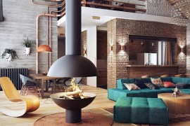 Elegant Interiors for a Luxurious Modern Duplex Conjured by Uglyanitsa Alexander