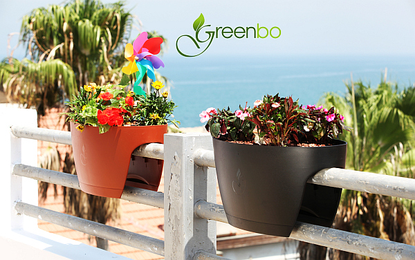 ecological greenbo planters GreenBo Railing Planters Integrate Ecology with Contemporary Design & Urban Ergonomics