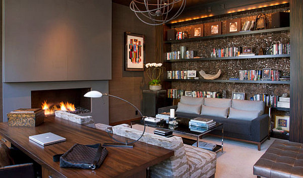 Contemporary Home Office Design Ideas: Sophisticated Home Study Design Ideas