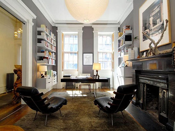 Sophisticated home study design ideas - Home office living room ideas ...