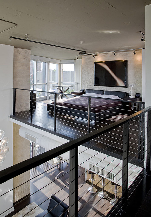 fancy bedroom area is open to the atrium creative loft bedroom ideas