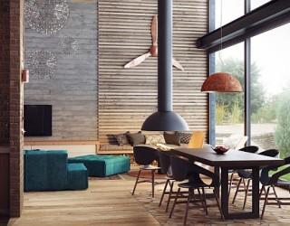 Elegant Interiors for a Luxurious Modern Duplex Conjured by Uglyanitsa Alexander