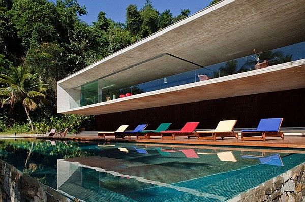large pool design Paraty House in Rio brings indulgent dreams alive with the sea, sand and stunning views