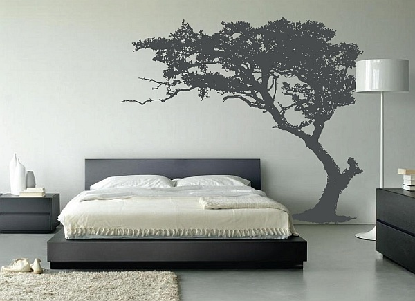 Leaning tree wall decal