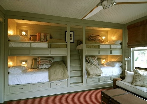 Stylish loft beds for kids 8 creativeideas for Bunk beds built into wall