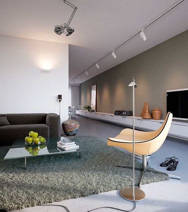 Minimalist Colorful Rug Designs: Minimalist Home Captivates With Sleek Design And Ergonomic