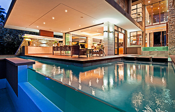 lounge area with pool
