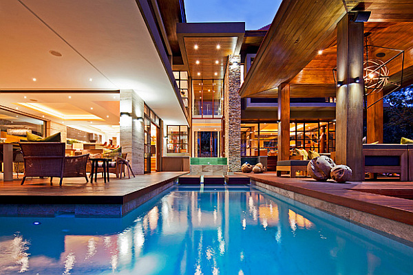 luxurious villa with pool