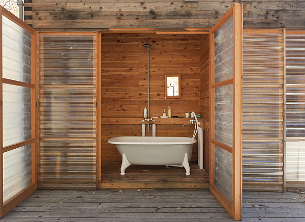luxury rustic bath