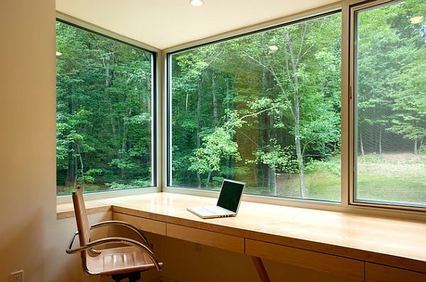 minimalist home office study room
