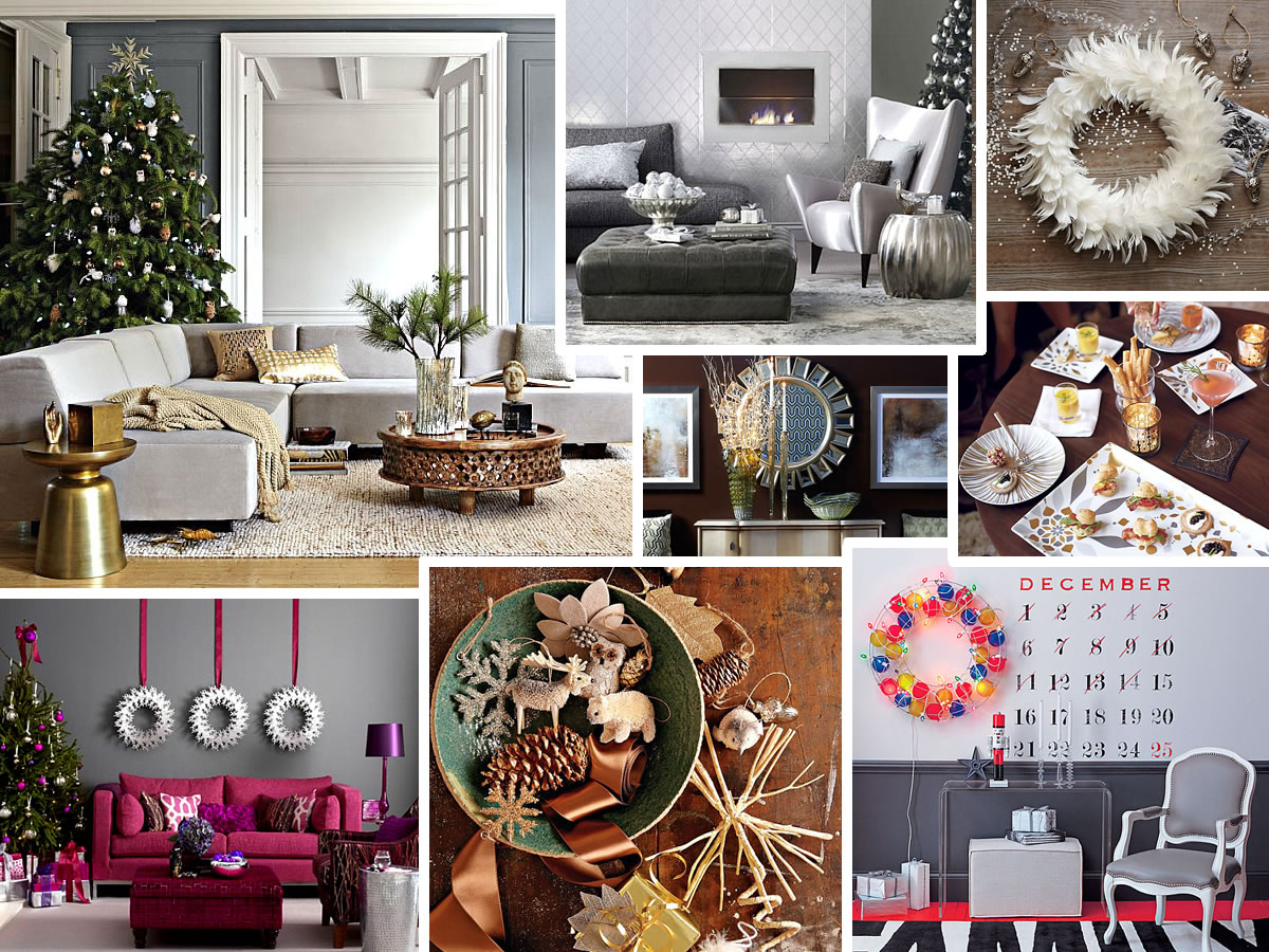 christmas home decor pinterest modern christmas decorating ideas for your interior 10582