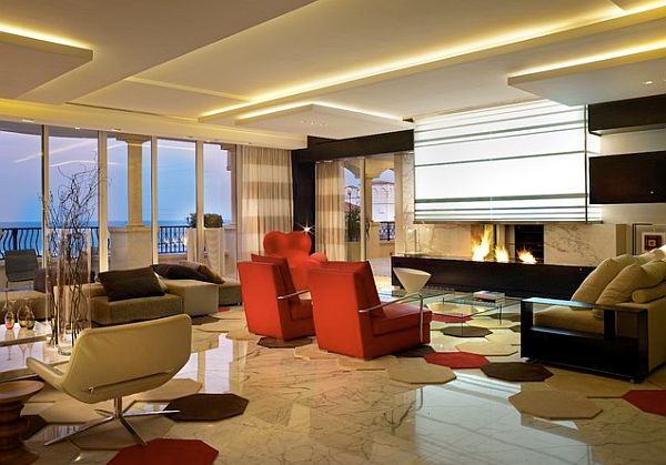 Modern linear fireplace design adds life to your living space