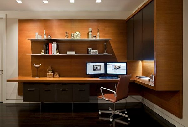 Sophisticated home study design ideas Study room wall cabinets