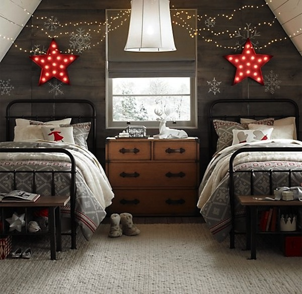 Charming Bedroom Bringing Neutral Colors Into Your Christmas Home Decor Part 16