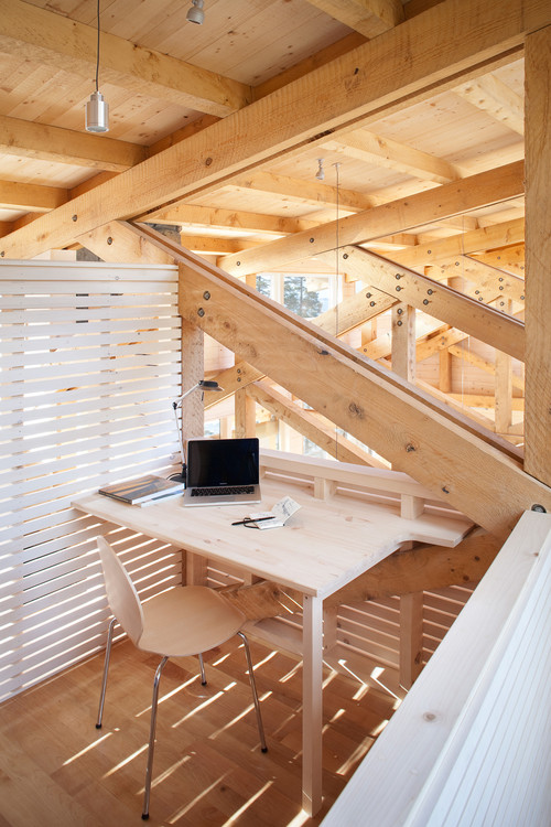 Private home office in a loft