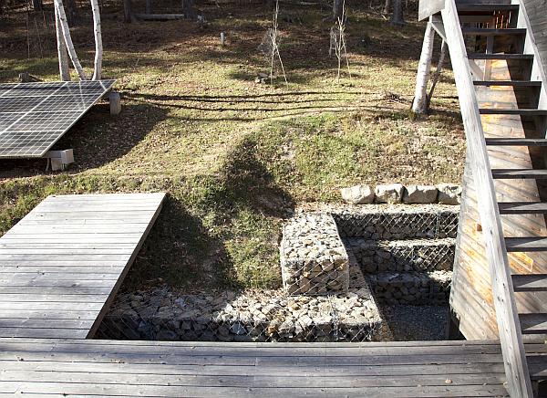 oudoor wood deck