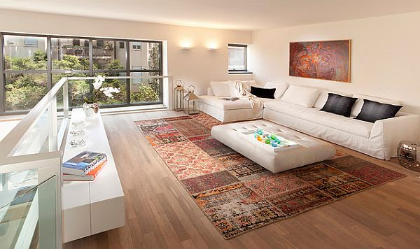 patchwork rug in living room Beautiful Rug Ideas for Every Room of Your Home