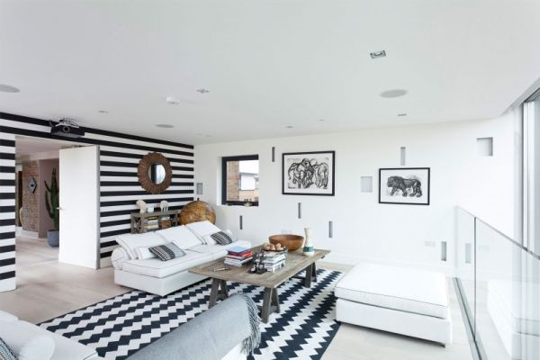 patterned living room decor
