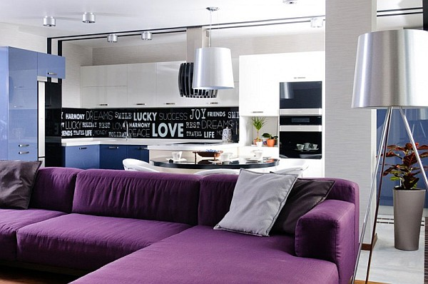Contemporary Apartment In Ukraine With Stylish Furniture