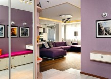 Contemporary Apartment in Ukraine With Stylish Furniture & Purple Hues by Eno Getiashvili