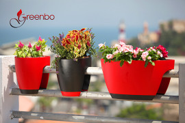 GreenBo Railing Planters Integrate Ecology with Contemporary Design & Urban Ergonomics