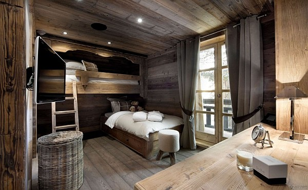 rustic bunk beds bedroom