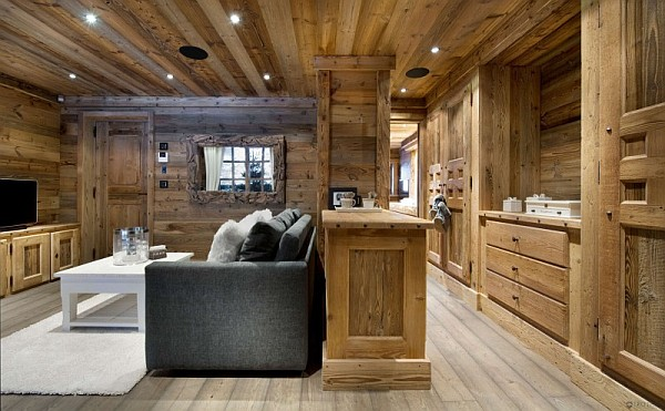Chalet le petit chateau in the french alps promises to for Chalet kitchen designs