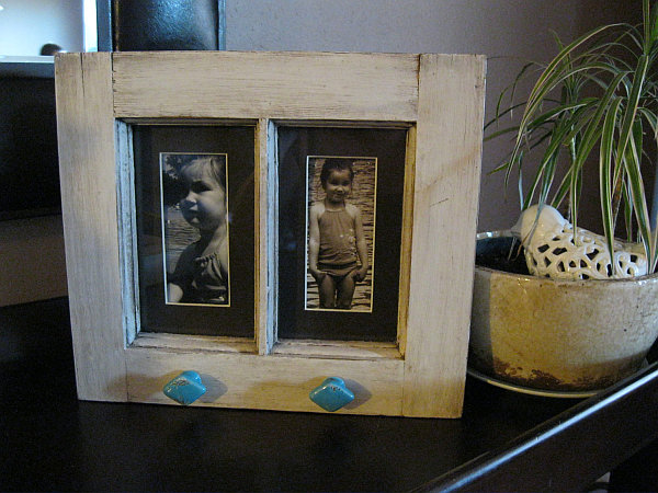 Small pictures frame from old windows