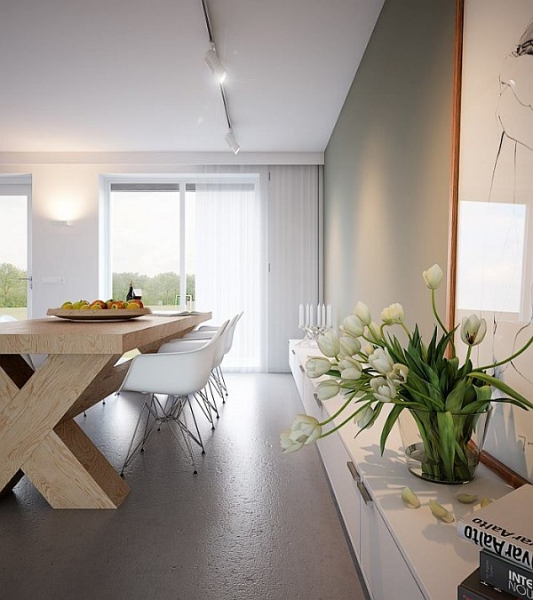 solid wood dining table Minimalist Home Captivates with Sleek Design and Ergonomic Form