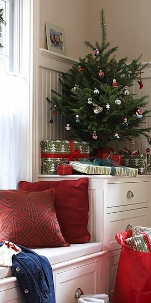 space saving christmas tree table top
