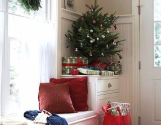 space saving christmas tree table top