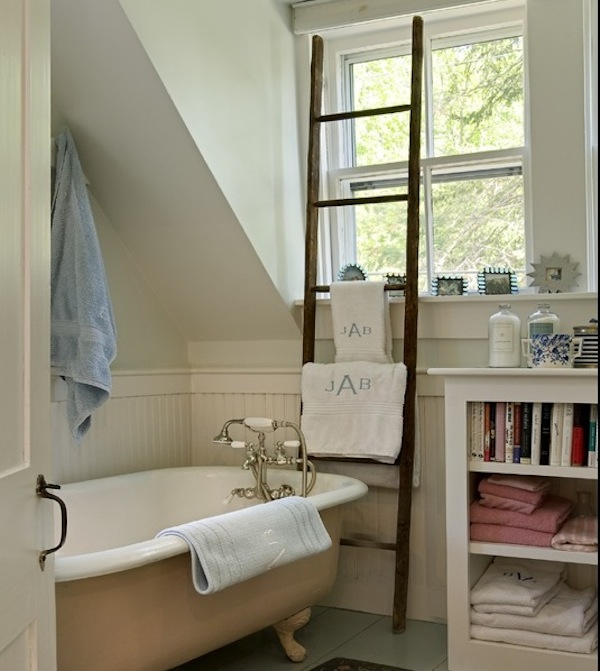 towel rack ladder bathroom
