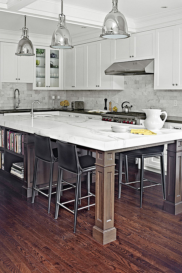 traditional kitchen island with storage and dining space Kitchen Island Design Ideas   Types & Personalities Beyond Function