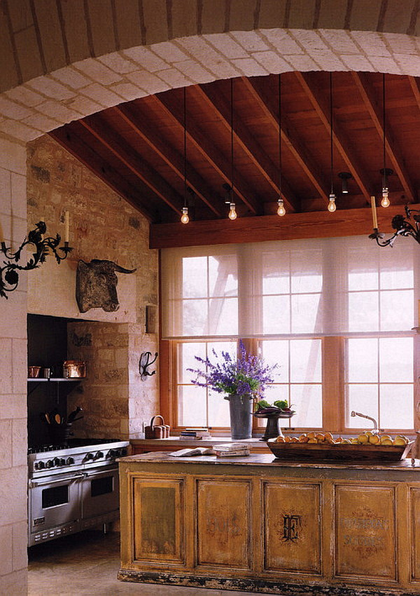 traditional-kitchen-island-with-vintage-feel