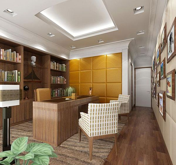 Best Study Room Design : An elegant home office design A study room with a traditional design