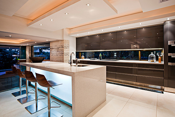 ultra modern kitchens with islands contemporary sgnw house mesmerizes with fluid charm in the 189