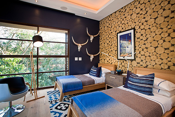 ultra modern kids room with great views