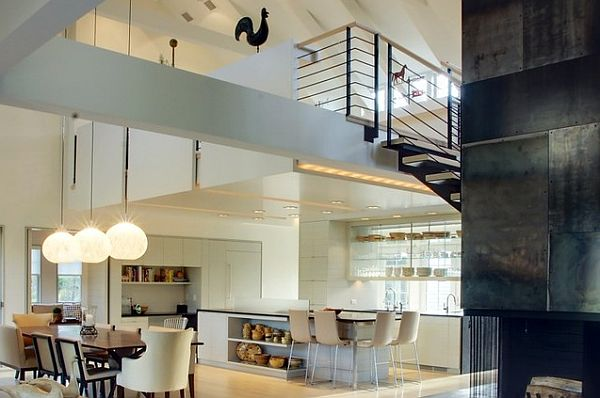 Ultra modern study in a contemporary loft