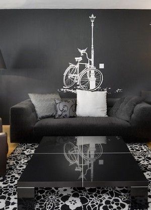 wall decal ideas gray