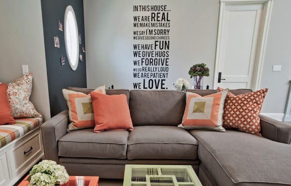 wall decal living room sayings