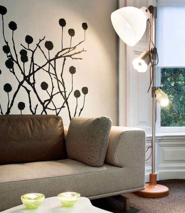 Adding character to your interiors with wall decals - Wall sticker ideas for living room ...