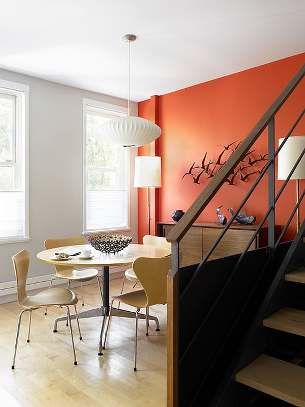 Unique decorating walls ideas for a lasting impression - Orange and black room decor ...