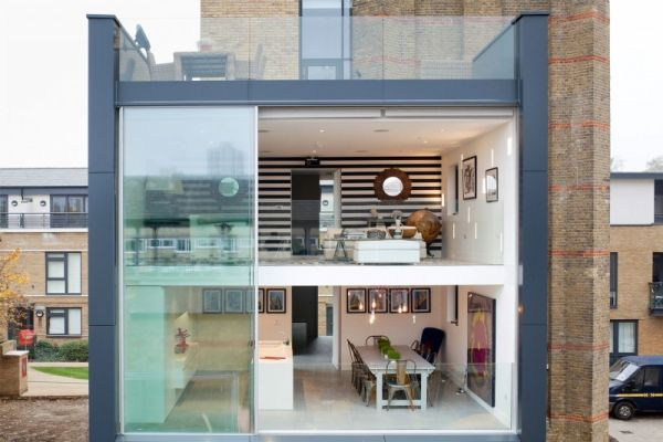 water tower transformation Fluid Design: Water Tower in London Transformed into a Contemporary Luxury Home