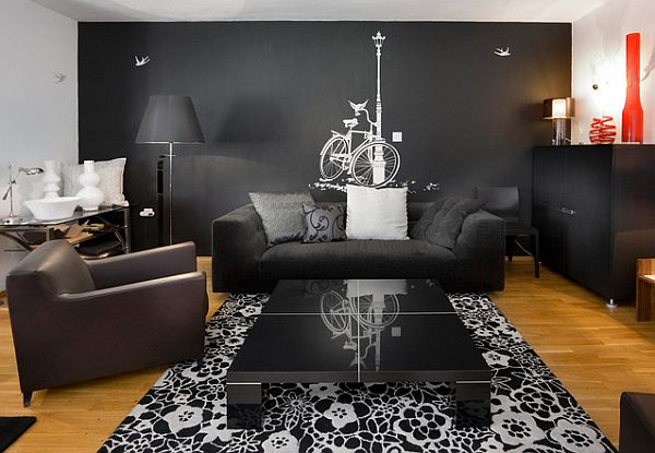 Dark Grey Living Room dark grey living room ideas – modern house