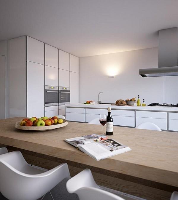 white glossy kitchen
